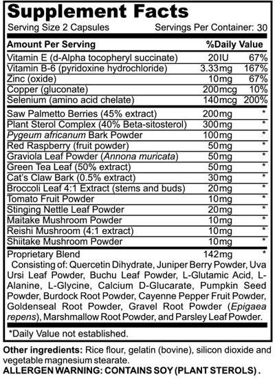 Prostate Ingredients