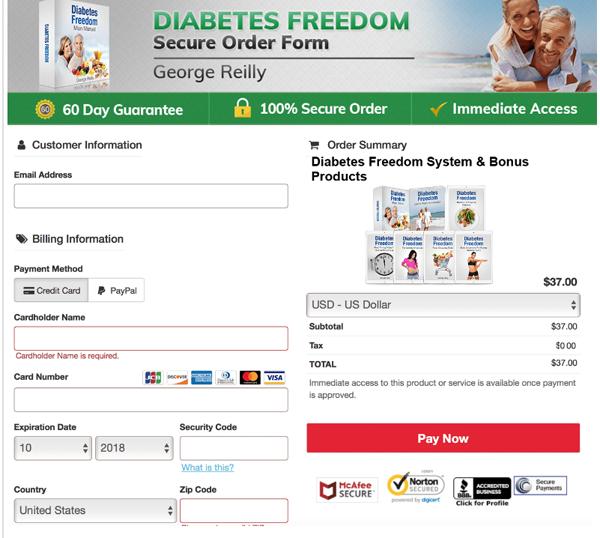 buy diabetes freedom